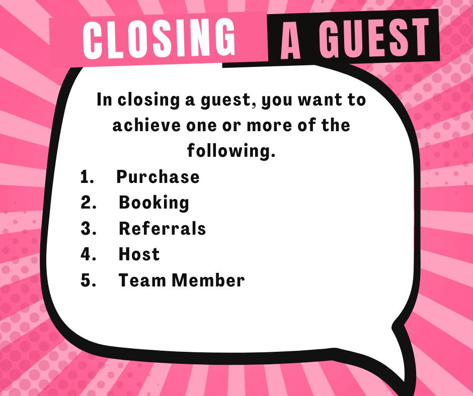 Closing a Guest Cheat Sheet